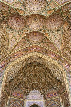 :::: PINTEREST.COM christiancross :::: Nasir-ol-Molk Mosque . Shiraz Iran