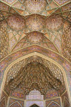 :::: PINTEREST.COM christiancross :::: Nasir-ol-Molk Mosque . Shiraz Iran