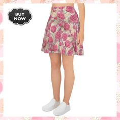 flowers - 1 Skater Skirt #QueenOfSeptember #MyQueenCase #FatherDay #QueenMothersDay #MothersDay #boy #UsaDay #SweetMothersDay #FaithCrossCutOut #Girl Mom Day, Body Types, Soft Fabrics, Hemline, Skater Skirt, Thighs, Skirts, Stuff To Buy, Etsy