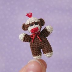 PDF PATTERN To Crochet a Miniature Baby Sock by MuffaMiniatures, $6.50