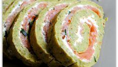 Roulé de brocolis au saumon
