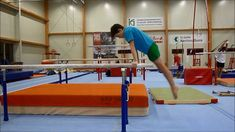 One way, how to introduce Felge to Handstand on parallel bars with young gymnasts.by Yannick Weislogel Boys Gymnastics, Gymnastics Coaching, Parkour Classes, Gymnastics Conditioning, Young Gymnast, Handstand, Basketball Court, Soccer, Survival Skills