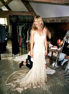 Kate Moss in custom John Galliano