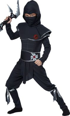 Boys Midnight Ninja Warrior Costume - Party City