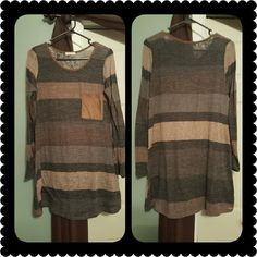Brand New Boutique Tunic. VERY CUTE Super CUTE Brand New Tunic. (Medium) Would be Super cute with leggings and boots. Tops Tunics
