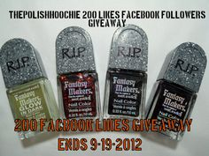 ThePolishHoochie: 200 Likes Facebook Giveaway! http://thepolishhoochie.blogspot.com/2012/09/200-likes-facebook-giveaway.html#