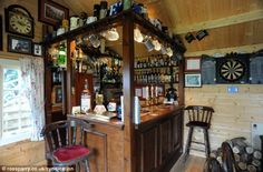 L'll Have A Small One! Summerhouse Converted Into Traditional English Pub In The…