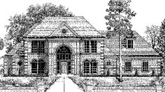 Chateau House Plan with 2708 Square Feet and 4 Bedrooms(s) from Dream Home Source   House Plan Code DHSW73437
