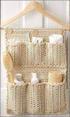 Luty Artes Crochet: Porta treco de cabide.