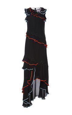 Sachin & Babi Ruffle Lace Gown