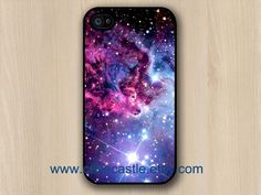 Fox Fur Nebula on Black Iphone 4 case, Iphone 4S case, Plastic hard case, Waterproof iphone case on Etsy, $3.88