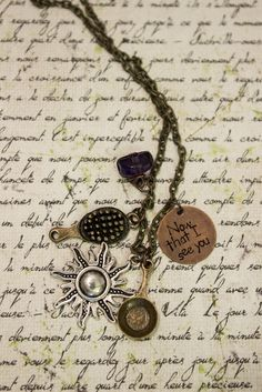 """Tangled Rapunzel inspired necklace """"now that I see you"""" by NoTwoTheSame on Etsy https://www.etsy.com/listing/211181238/tangled-rapunzel-inspired-necklace-now"""
