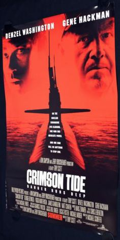 CRIMSON TIDE (1995) Original Movie Poster 27x40 ROLLED Double Sided Tony Scott  #ebay #PopCulture #MoviePoster