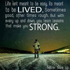 Life isn't meant to be easy - http://quotespaper.com/motivational-quotes/5496