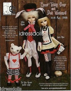 2008 Doll Magazine Advertisement GOODREAU DOLL Alice Dolls White Rabbit NO DOLL