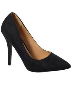 pointed black court shoe