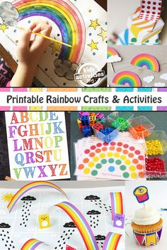Lots of printable rainbow crafts and activities for kids. So fun!