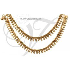 Gold plated anklets pretty to wear designed to suit the tastes of young girls and women will go well with all Indian and western outfits Gold Anklet, Anklet Jewelry, Anklets, Baby Jewelry, Gold Jewelry, Leg Chain, Toe Rings, Necklace Designs, Indian Dresses