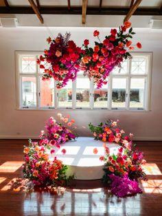 Backdrop Decorations, Flower Decorations, Backdrops, Floral Wedding, Wedding Colors, Wedding Flowers, Deco Floral, Floral Design, Flower Installation