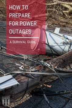 Power outages can happen any time, and can lead to disastrous consequences – this guide helps you prepare for and survive a power outage with the essentials. #poweroutages #survival #guide #preparadness Survival Guide, Survival Skills, Power Outage, Grid, Essentials, Learning, Life, Survival Guide Book, Studying