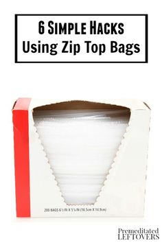Resealable zip top bags are useful for more than just packing lunches. These 6 Simple Hacks Using Zip Top Bags include frugal household uses and more!