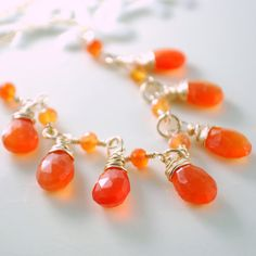 http://theawesomesisters.com/ Colour of the year 2012 - Tangerine Tango - accessories - neckpiece