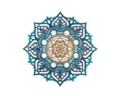 Moonflower Mandala, Bohemian Style Art Wood Wall Hanging, Sacred Geometry Spiritual Home Decor Gift, Gold Wall Decor, Bohemian Wall Decor, Ethnic Decor, Bohemian Style, Moroccan Decor, Mandala Art, Flower Mandala, Indian Mandala, Sacred Geometry Patterns