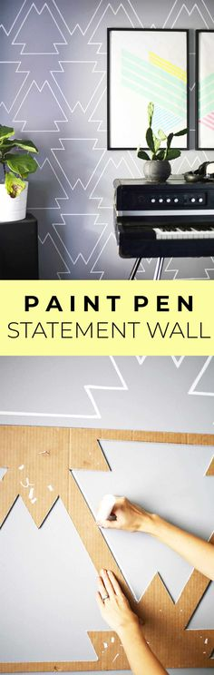 Make a Statement Wall with Paint Pens! - A Beautiful Mess