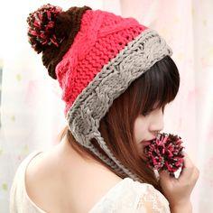 Sombrero del oído del sombrero días Sra. invierno lana versión coreana de  la afluencia de invierno de Corea del largo lindo bolas grandes 6e7e9f8f03d