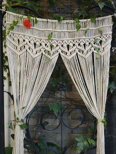 Handmade Macrame Wall Hanging Tapestry- Macrame Door Hanging,Room divider,macrame Curtains,Window Curtain, door curtains, weddin