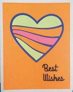 This clean and simple wavy heart lends itself to multiple sentiments...a great design for the stash when you need a quick card. Love Thoughts, Quick Cards, Stork, Homemade Cards, Notes, Heart, Simple, Design, Diy Cards