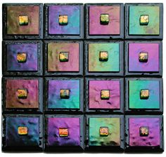 """Contemporary accent tiles from Adagio Art Glass provide """"Decor to make the heart sing."""" These glass accent tiles have come from the imagination of designer Mary Barron. Her handmade..."""