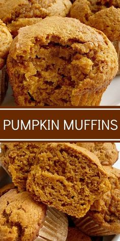 Pumpkin Muffins are soft, moist, bake up perfectly, loaded with pumpkin, spices and they use one entire 15 oz can of pumpkin. The perfect pumpkin muffins. Muffins Decorados, Pumpkin Muffin Recipes, Recipes With Pumpkin, Healthy Pumpkin Muffins, Pumpkin Spice Muffins, Pumpkin Cookies, Healthy Pumpkin Recipes, Coconut Sugar Recipes, Oat Flour Recipes