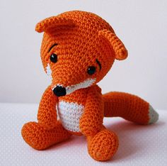 Amigurumi Crochet Fox Pattern - Lisa the Fox - Softie - PlushImportant: Lisa the Fox pattern is available only in English language! This is a listing for the crochet pattern, not finished doll! Are you tired of hearing how foxes are invasive? Crochet Amigurumi, Amigurumi Patterns, Amigurumi Doll, Crochet Dolls, Crocheted Toys, Baby Knitting Patterns, Crochet Ideas, Crochet Fox Pattern Free, Foxes