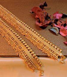 wedding spl polki payal in 18k gold plating.