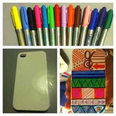 Sharpie phone case #diy