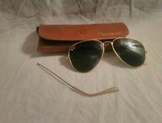 Rayban Aviator Classic Sunglasses w/Case Parts or Repair Gold Aviator Sunglasses, Sunglasses Accessories, Armani Exchange Sunglasses, Ray Ban Models, Ray Bans, Classic