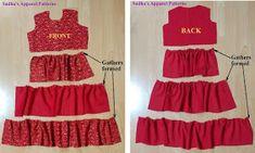 tiered ruffle dress for kids diy Little Girl Dress Patterns, Baby Girl Dress Patterns, Dress Sewing Patterns, Girls Dresses Sewing, Baby Dress Design, Skirts For Kids, Dress Tutorials, Diy Dress, Ruffle Dress
