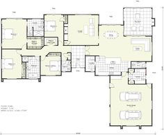 Design and Floor plan Copyright © Harwood Homes NZ Limited The Plan, How To Plan, 4 Bedroom House Plans, Home Decor Bedroom, Bedroom Ideas, Kitchen Floor Plans, House Floor Plans, Floor Design, House Design