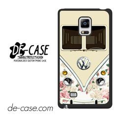 Pink Floral Vw Retro Bus For Samsung Galaxy Note Edge Case Phone Case Gift Present YO