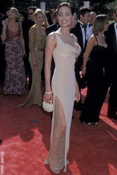 Angelina Jolie arrives at the Annual Emmy Awards in LA, Sept 1998