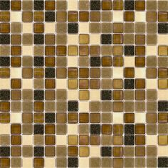"Zoomed: Elida Ceramica 13"" x 13"" Mosaic Multi Grain Glass Wall Tile"