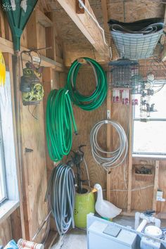 Garden Shed Organization Creating a Rodent Proof Shed Simpe and Easy and Storage Shed Organization, Storage Shed Kits, Garden Tool Storage, Garden Tools, Garage Storage, Barn Storage, Diy Garage, Shed Base, Clutter Solutions