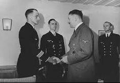 Captain Hardegen standing between Erich Topp and Adolf Hitler – May 1942 – Bundesarchiv Costa, Heavy Cruiser, Atlanta Journal, Abandoned Ships, Texaco, Held, Military History, World War Ii, Ww2