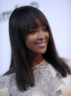 Human Hair Wig with Bangs 150 High Density Remy Lace Front Human Hair Wigs Long Silky Straight Full Lace Frontal Wigs for Black Women Pre Pluck Cheap Human Hair Wigs, Remy Human Hair, Cheap Hair, Human Wigs, Naomi Campbell Hair, Shoulder Length Hair With Bangs, How To Cut Bangs, 2015 Hairstyles, Celebrity Hairstyles