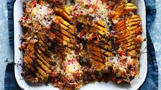 Give pumpkin the hasselback treatment.