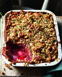 This slow-baked, crumble-topped vegetarian lasagne by chef Tristan Welch works well as a side dish at a dinner party, but could be a main course in itself. Vegetarian Lasagne, Vegetable Lasagne, Vegetarian Recipes, Vegetarian Bake, Lasagne Recipes, Risotto Recipes, Vegetarian Starters, Souffle Recipes, Baked Vegetables