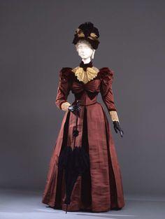 Day dress ca. 1890 From the Galleria del Costume di Palazzo Pitti...