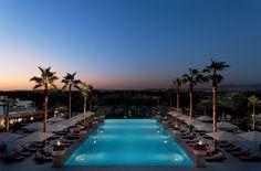 Astonishing Infinity Pool with underwater music system @ Conrad Algarve, Portugal Hotel Algarve, Lagos Algarve, Spas, Hotel Portugal, Portugal Travel, Underwater Music, Conrad Hotel, Top Honeymoon Destinations, Travel Destinations