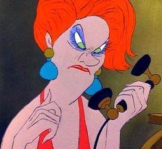 Madame Medusa - The Rescuers. haha she cracks me UP. Mmmmmadame Medusa's pawn shop  boTIQUE!